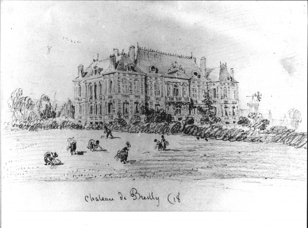 187x - croquis du chateau