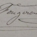 signature - L.Fougeron, née Coulon