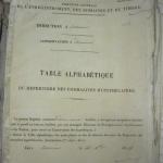 table alphabetique