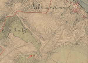 ferme d'Ailly - carte etat major  1820-1866 - fleche by .